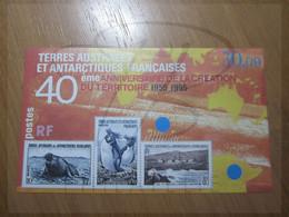 VEND BEAU BLOC DES T.A.A.F. N° 2 , XX !!! (c) - Blocs-feuillets