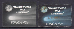 Tonga 1986 Halley's Comet - 42s Proof In Black & White + Specimen - Shows Once In A Lifetime - Space - Read Description - Tonga (1970-...)