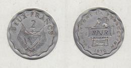 RWANDA  Deux Francs 1960 2F  KLM#10 - Rwanda