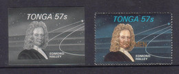 Tonga 1986 Halley's Comet - 57s Proof In Black & White + Specimen - Shows Halley Planets Stars Space - Read Description - Tonga (1970-...)