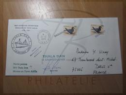 VEND BELLE LETTRE DU TERRITOIRE ANTARCTIQUE AUSTRALIEN , DU THALA DAN !!! (b) - Lettres & Documents