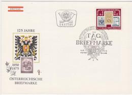 Ö 1975 - Mi:1504 (9) , FDC - 125 Jahre Österreichische Briefmarke , SST 1150 Wien - FDC