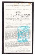 DP Armand Joseph Clause ° Gouvy 1913 † 1944 X Irène Boulanger - Andachtsbilder