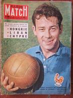 PARIS MATCH N°481 (28 Juin 1958) Football Coupe Du Monde Avec La France- 24 Heures Du Mans - General Issues