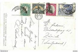 242 - 1 - Carte De Johannesburg Envoyée En Suisse 1947 - Storia Postale