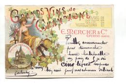 Épernay, Marne - E. Mercier & Co, Grands Vins De Champagne - 1904 Used France Advertising Postcard - Epernay