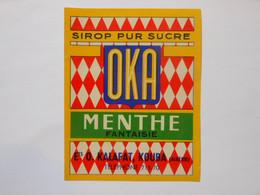 P180 - 1 étiquette De Sirop OKA  Menthe - Kalafat à Kouba En Algérie - Other
