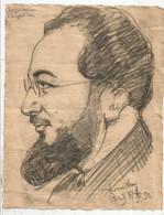 Dessin , Georges  CARLOU à La ROTONDE , Paris , 1932, Signé , Frais Fr 2.00 € - Dessins