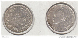 Liberia 25 Cents 1960  Argent  KM#16 - Liberia
