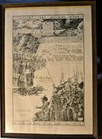 HOUTHULST. W.O.I. Diploma Oorlogsverdiensten Aalmoezenier Henri De Groote (1919) - Documenti Storici