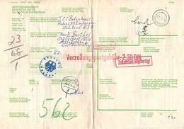 Paketkarte, Taxe Percue, Empangen Ueber Hamburg Nach Velbert 1973 (3107) - Lettres & Documents