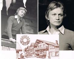 2 PHOTOS  - STUDIO MARCON - CLAUDE FRANCOIS - LEYSIN - 10 MARS 1978 + CARTE POSTALE - Famous People