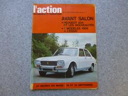L'ACTION Automobile Septembre 1968, PEUGEOT 504, 24 Heures Du MANS ; REV03 - Auto/Motorrad
