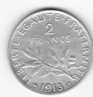Très Belle 2 Francs Semeuse 1913 TTB à SUP - I. 2 Francs