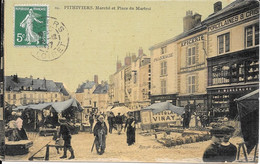 45 - PITHIVIERS - MARCHE ET PLACE DU MARTROI - Pithiviers