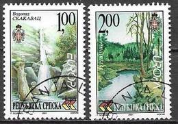 Bosna Bosnia Bosnien Serbia Serba 2001 Europa Cept Michel 200-01A Cancelled Used Oblitéré Gestempelt Oo - 2001