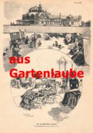 782 Von Schönthan Ostende Seebad Belgien Flandern 2 Artikel 1885 !!                                           . - Prints