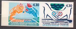 Inauguration Du Tunnel Sous La Manche Paire YT 2877A De 1994 Sans Trace De Charnière - Non Dentellati