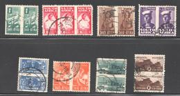 1941 War Effort Reduced Size Complete Set F Pairs + SG 97-104 - Usati