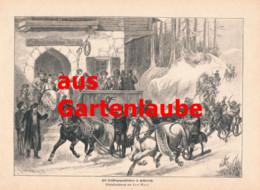 789 Karl Marr Silberstein Goaßlfahren Fasching Pferdeschlitten Artikel 1887 !! - Fasching & Karneval