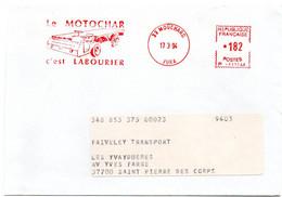 JURA - Dépt N° 39 = MOUCHARD 1994 = EMA Illustrée  = ' MOTOCHAR LABOURIER ' - EMA (Printer Machine)