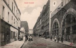 CPA   75   TOUT PARIS   RUE MONGALLET A LA RUE DE CHARENTON---TRES RARE ?---ANIMEE---1905 - Distretto: 07