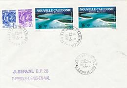 """Nouvelle Calédonie Obl """" TADINE 23/5/1991 """" MARÉ Iles Loyauté Sur Lettre > France - Cartas"""