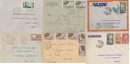 Nouvelle Calédonie Lot De 6 Lettres , 2 Par Avion - Kouma - Affranchissements à Voir - Seul Sur Lettre - Collezioni & Lotti