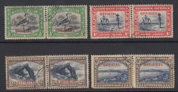 South West Africa, Scott O13-O16 (SG O13-O16), Used - South West Africa (1923-1990)