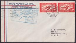 F-EX22018 PORTUGAL TRANS-ATLANTIC 1939 FIRST FLIGHT LISBOA - MARSEILLE, FRANCE. - Briefe U. Dokumente