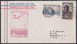 F-EX22021 FRANCE TRANS-ATLANTIC 1939 FIRST FLIGHT MARSEILLE - AZORES, PORTUGAL - 1927-1959 Briefe & Dokumente