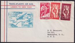 F-EX22026 PORTUGAL TRANS-ATLANTIC 1939 FIRST FLIGHT LISBOA - NEW YORK, US. - Briefe U. Dokumente