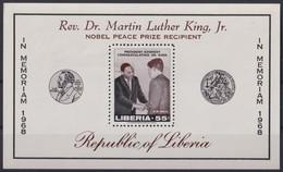 F-EX22192 LIBERIA 1968 MNH SHEET NOBEL AWARD KENNEDY & MARTI LUTHER KING. - Liberia