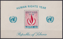 F-EX22194 LIBERIA 1968 MNH SHEET HUMAN RIGHT YEAR. - Liberia