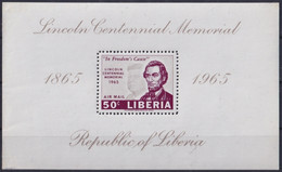 F-EX22200 LIBERIA 1965 MNH SHEET PRESIDET ABRAHAM LINCOLN. - Liberia