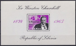 F-EX22198 LIBERIA 1965 MNH SHEET WINSTON CHURCHILL. - Liberia