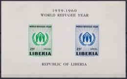 F-EX22203 LIBERIA 1959 MNH SHEET WORLD REFUGEE YEAR. - Liberia