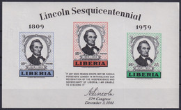 F-EX22204 LIBERIA 1959 MNH SHEET PRESIDET ABRAHAM LINCOLN - Liberia
