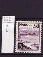 Maroc - Marokko - Morocco 1954 Y&T N°332 - Michel N°374 (o) - 15f Pointe De Oudayas - Usati