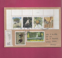 Lettre Recommandée De 1996 Pour La France - YT N° 404, 477 Et 489 à 496 En Bande CDF - Storia Postale