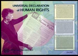 ONU New-York Genève Vienne 2017 - Universal Declaration Of Human Rights - Expo Pennsylvania ** - Emissions Communes New York/Genève/Vienne