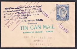 TONGA 1936 NIUAFOOU  TIN CAN MAIL TO AUCKLAND N.Z. SUPERB - Tonga (1970-...)