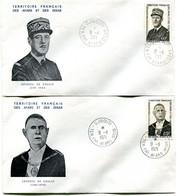 Thème Général De Gaulle - PJ Afars Et Issas - Yvert 375 & 376 - R 6036 - De Gaulle (General)