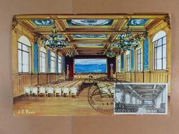 Monaco Cinquantenaire Du Musée 1910-1960 La Salle Des Conférences - Maximumkarten (MC)