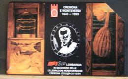 (LT878) CELEBRAZIONE MONTEVERDIANE MARRONE 2000 LIRE C&C N° 2300  N°337000421 - Öff. Werbe-TK