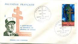 Thème Général De Gaulle - PJ Polynésie - Yvert PA 123 - R 6053 - De Gaulle (General)