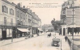 03-MONTLUCON- LE BOULEVARD DU COURTAIS VUE DE L'AVENUE DE LA GARE - Montlucon