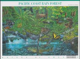 U.S. 3265-3274 Folienblatt (complete Issue) Unmounted Mint / Never Hinged 2000 Naturlandschaften - Rainforest - Unused Stamps