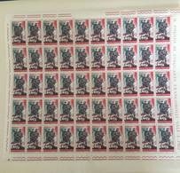 1965 - Italia .  XX Anniversario Della Resistenza. Lire 15 - Fogli Completi