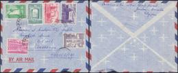 """Culturelle (1962) - Série """"complète"""" 1205/10 (manque N°1211) Sur Lettre Par Avion De Ganshoren > Tananarive (Madagascar) - Lettres & Documents"""